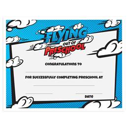 Flying Out of Preschool Certificates Pack