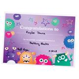 Monster Mania Certificate