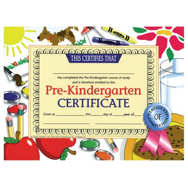 Pre-Kindergarten Certificate - Dog   Anderson's
