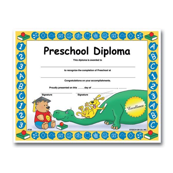 Preschool Diploma - Dinosaur   Anderson's