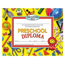 Preschool Diploma - Ribbon