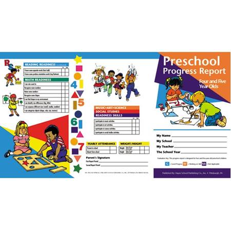 Preschool Progress Report – 4-5 Years