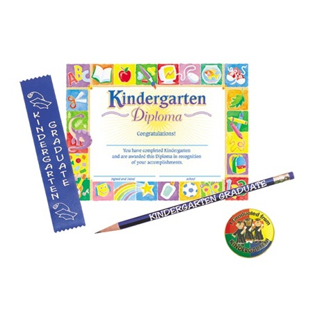 Kindergarten Diploma Pin Award Set