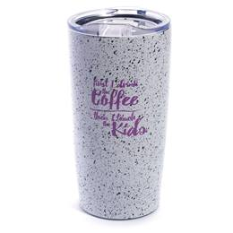 Speckled Travel Mug - First I Drink the Coffee, Then I Teach the Kids