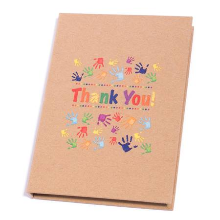 Notebook With Sticky Flags and Pen Set- Thank You Handprints