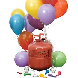 Disposable Helium Tank with 50 Balloons and Ribbon