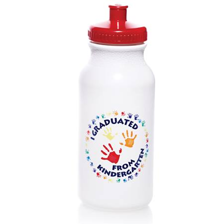 20 oz. Kindergarten Graduate Water Bottle - Handprints