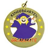 Die-Cut Medallion - Kindergarten Graduate Girl