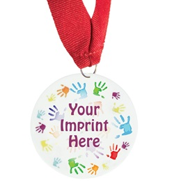 Full-color Custom Graduation Medallion-Hand Prints