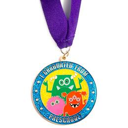 I Graduated From Preschool Medallion--Monsters