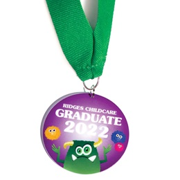 Full-color Custom Graduation Medallion-Monster Mania