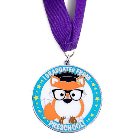 Preschool Graduate Medallion - Fox
