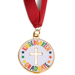 Kindergarten Graduate with Die-cut Cross Medallion