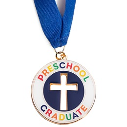 Cut Out Cross Preschool Graduate Medallion
