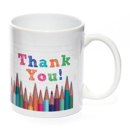 Ceramic Mug - Thank You Pencils