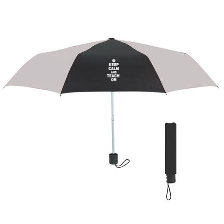 Umbrella- Black/White Keep Calm and Teach On