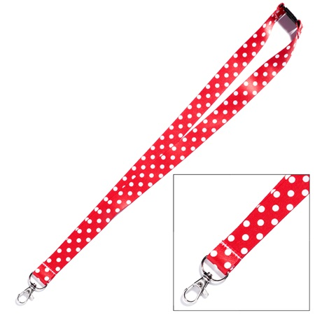 Neck Strap - Thank You Polka Dots