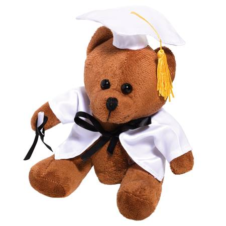 Gradution Bear - White