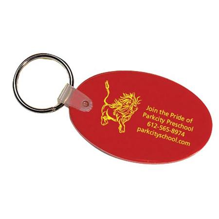 Flexible Oval Key Chain