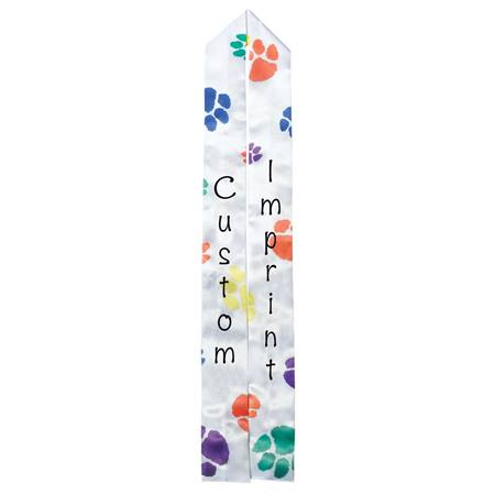 Full-color Custom Graduation Sash-Colorful Paws